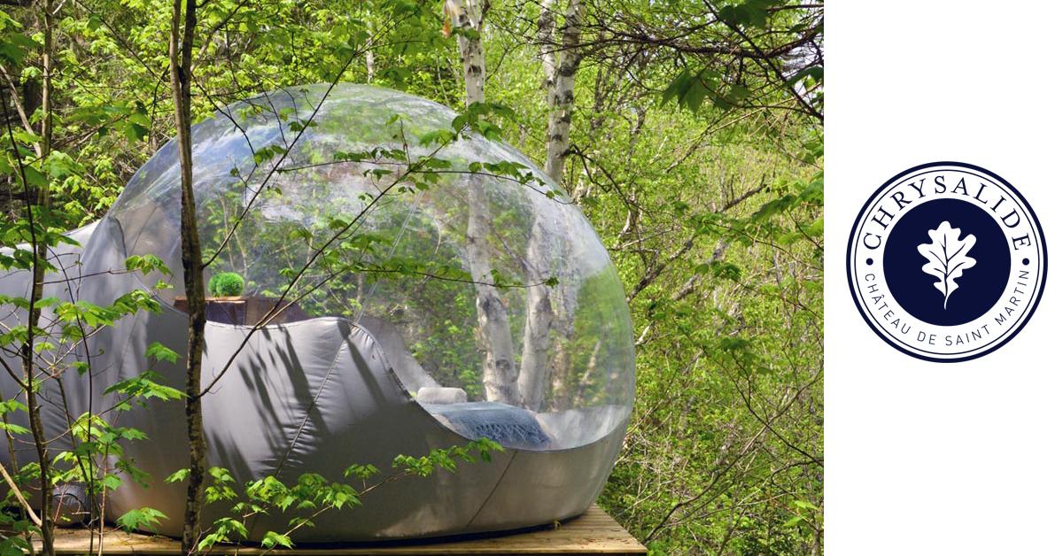 dormir dans une bulle dans le sud ouest aquitaine. Black Bedroom Furniture Sets. Home Design Ideas